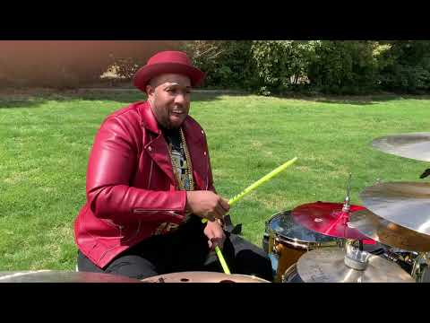 Eric Moore - New Maple/Mahogany DW drums and Paiste Cymbals