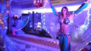Время зажигать! Нереально красивое выступление со светодиодами крыльями восток шоу | LINDA SHOW