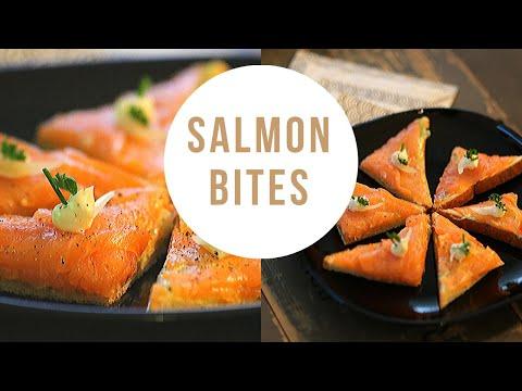 Smoked Salmon Canapes - Canape Ideas - Cold Canapes Recipe