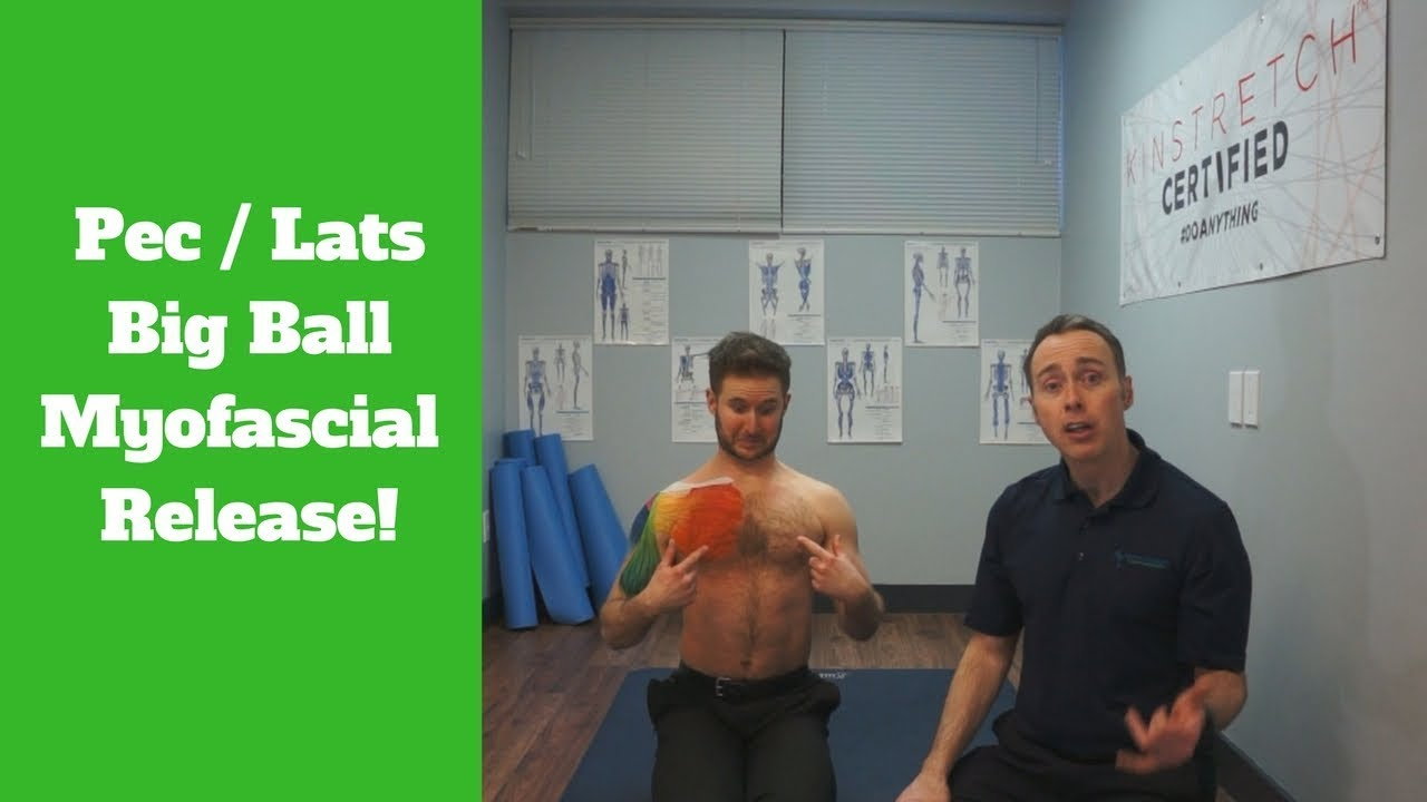 Myofascial Release For The Chest Big Ball Youtube