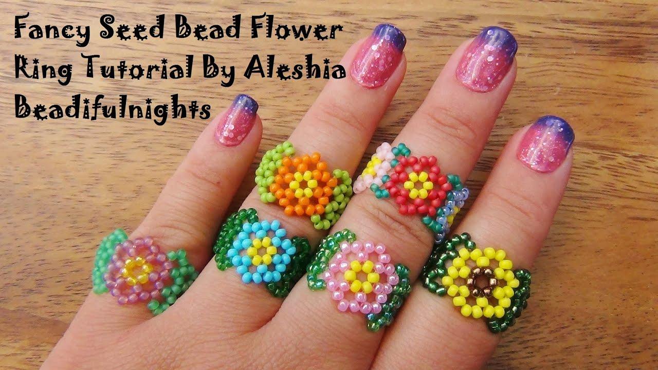 Flower Bead Ring Tutorial