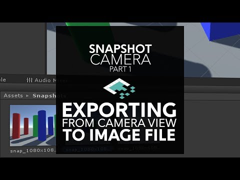 Snapshot Tutorial: Making Image Files From Unity Cameras