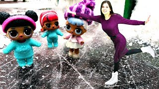 Куклы Лол - Горка из снега для ЛОЛ. Шоу Ох уж эти куклы
