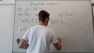 Kinetická Energie - Příklad 1