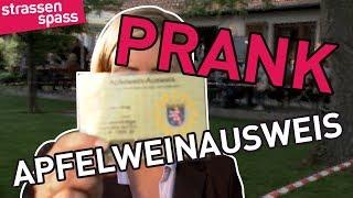 Apfelwein-Ausweis PRANK mit Susanka