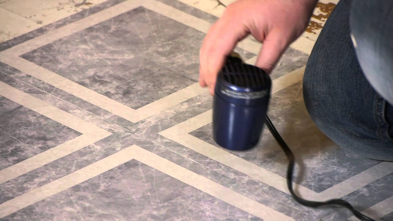 How to remove vinyl with a hair dryer flooring repairs youtube how to remove vinyl with a hair dryer flooring repairs dailygadgetfo Choice Image