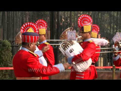 Music band at the Changing of Guard, Rashtrapati Bhavan
