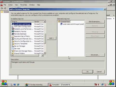 Windows Server 2008 Creating And Managing User Accounts