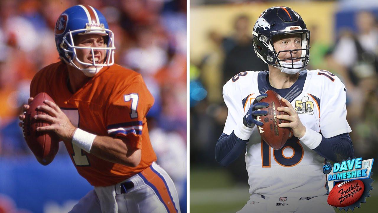 2f4c7607318 Would You Rather: Peyton Manning or John Elway?   Dave Dameshek Football  Program   NFL