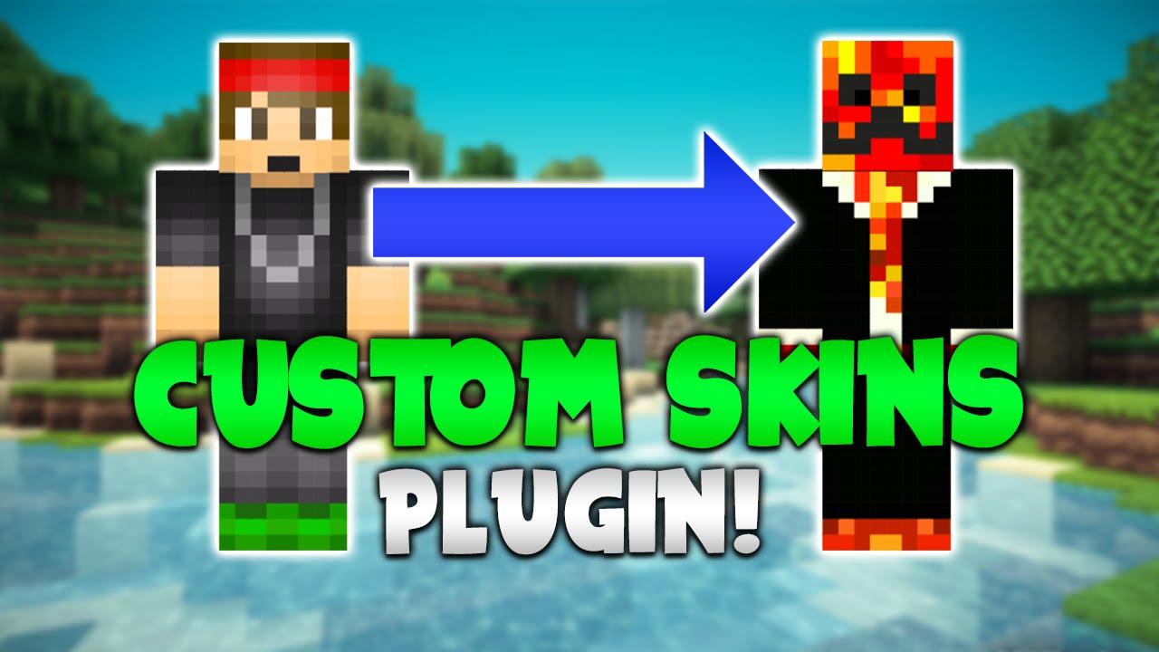 CUSTOM SKINS Minecraft Plugin Tutorial YouTube - Skins para o minecraft pro