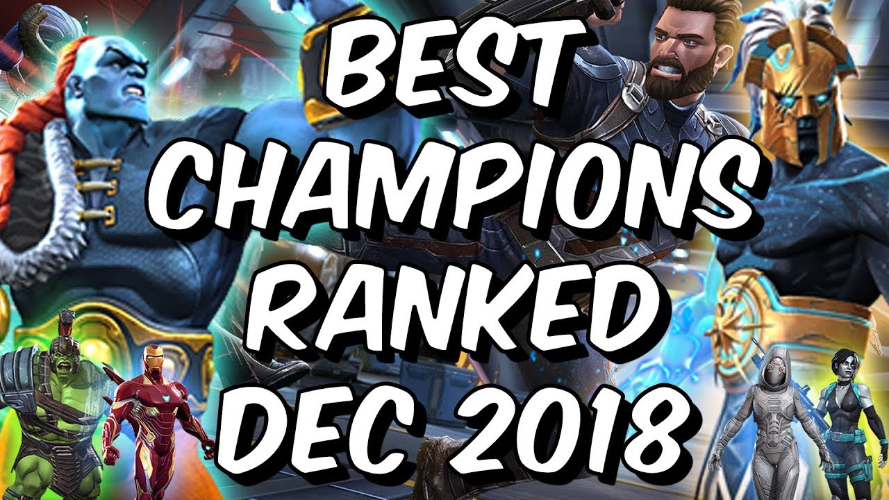 13cdbc07536e Best Champions Ranked December 2018 - Seatin s Tier List - Marvel Contest  Of Champions