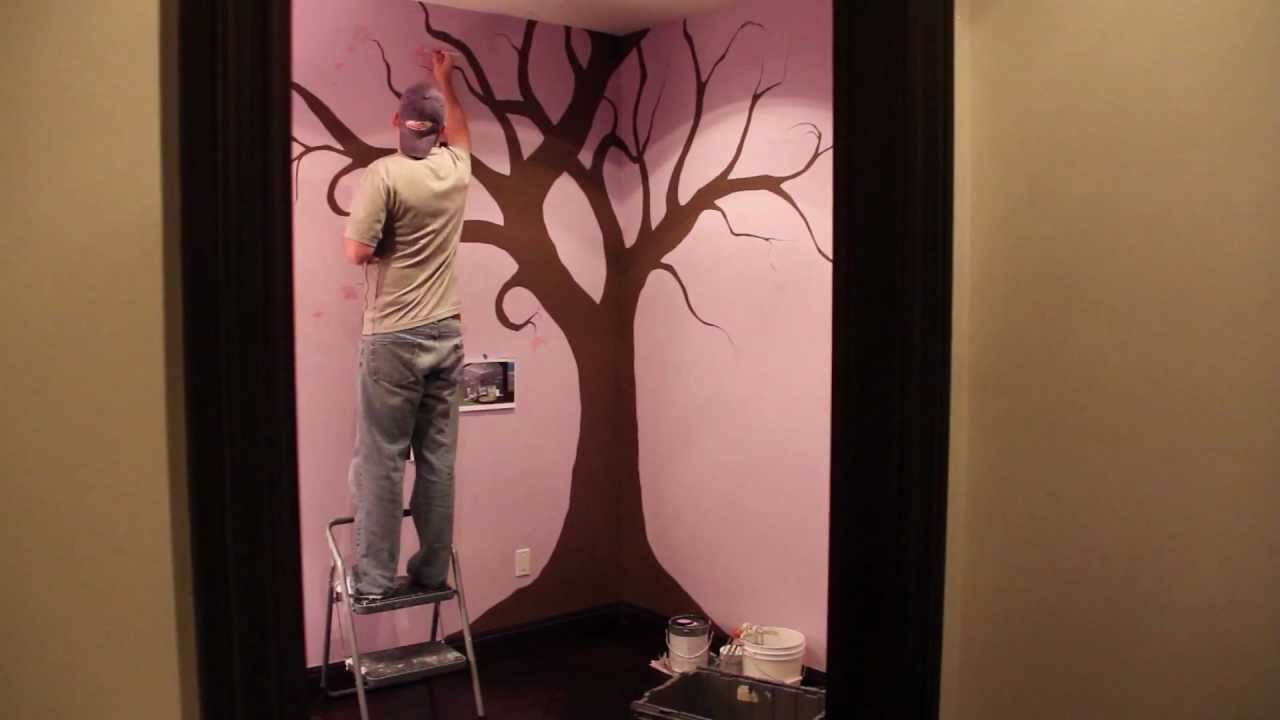 how to paint a nursery tree hrs in secs time lapse