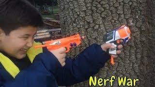 Nerf microshots mini nerfler için savaş yaptık   Nerf war   ABC KEREM