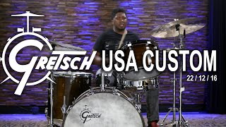 Gretsch USA Custom Drum Set 22/12/16 - Antique Maple (GUSA221216AM)