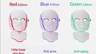 7 colors photon skin rejuvenation led facial mask