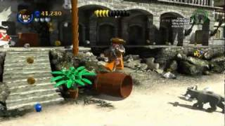 Shark Attack and Pig Riding - LEGO Pirates PC Gameplay