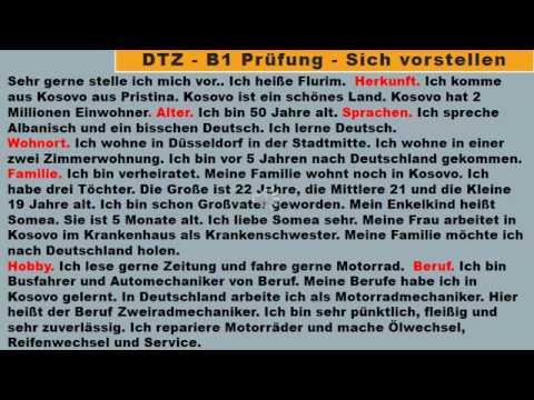 b1 pr252fung deutsch lernen sich vorstellen m252ndliche
