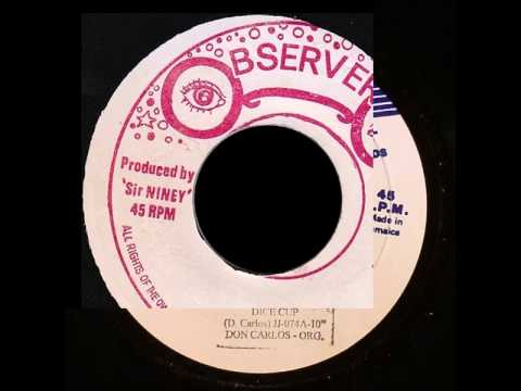 Don Carlos & ''Gold'' - Dice Cup 7'' Inch ''Vinyl The Observer & Hitbound'' (1980-1981) WITH LYRICS