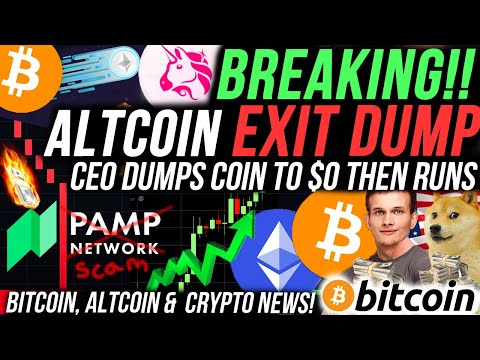 EMERGENCY! ALTCOIN DUMPS TO $0 AFTER CEO DUMPS!! BITCOIN AND ETHEREUM HUGE PRICE MOVE VERY SOON!!! 🚨