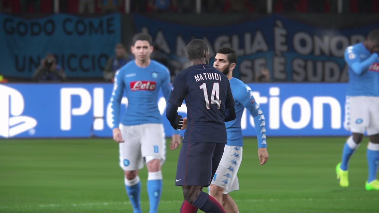 Pes  Napoli Vs Psg Champions League