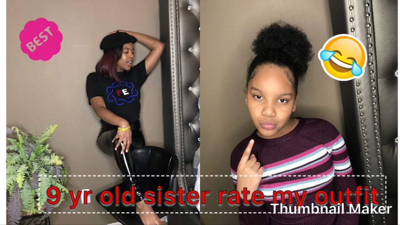 My 9 Yr Old Sister Rates My Outfits ( Fashion Nova \u0026 Prettylittlething)