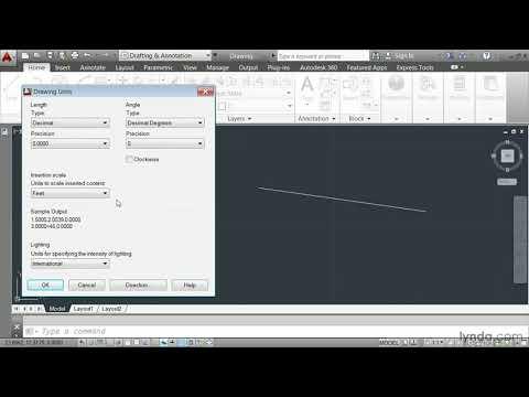 AutoCAD 2014 tutorial: Defining a unit of measure   lynda.com