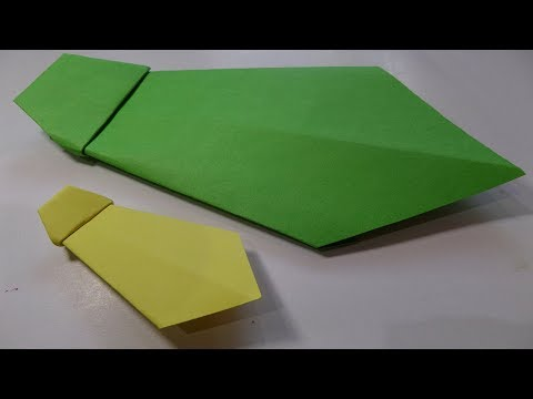 How To Make a Paper Neck Tie ( Very Easy Neck Tie Origami )