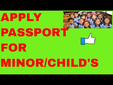 How can i apply for passport my child in india