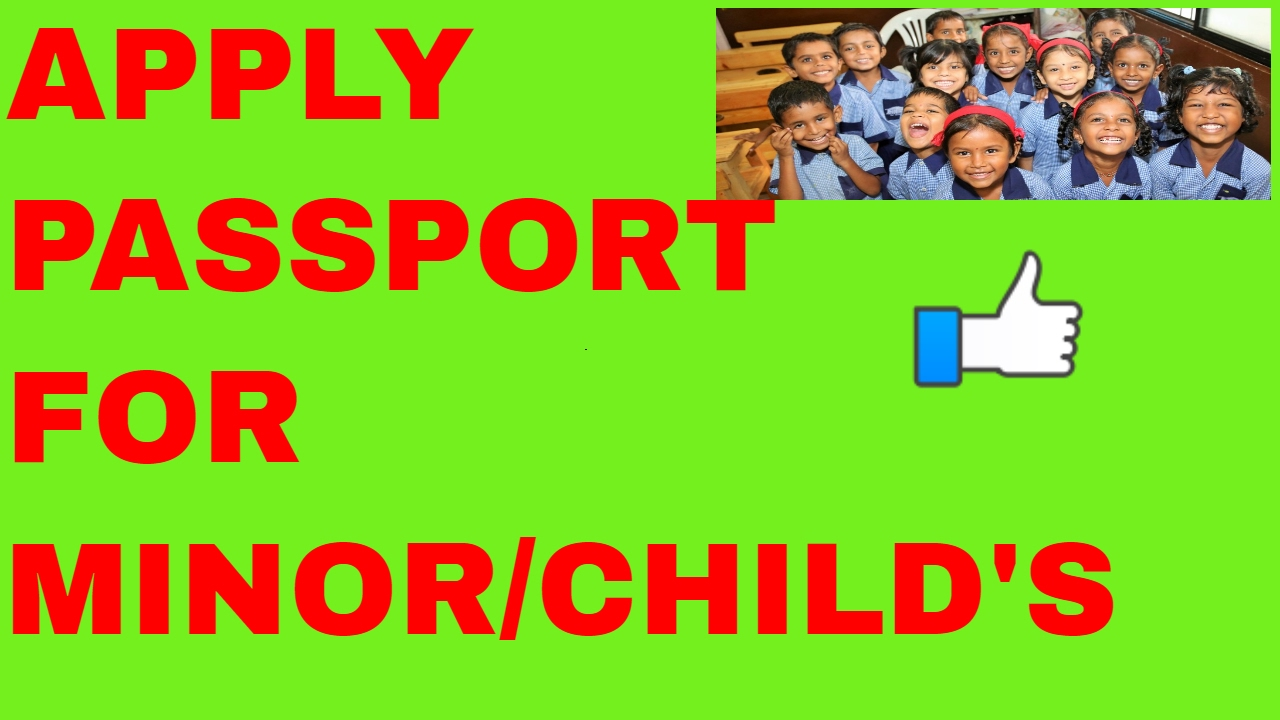How To Apply Passport For Minor Child Online? Allrmation!!(hindi 2017)