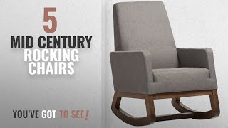 Top 10 Mid Century Rocking Chairs [2018]: Baxton Studio Yashiya Mid Century Retro Modern Fabric