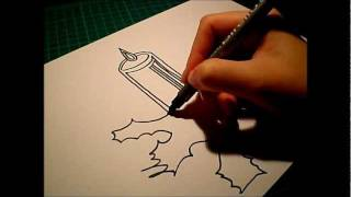 How to draw (for beginners): A christmas candle..!(2)