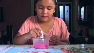 cara membuat slime dari lem povinal