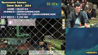 Deus Ex [PC] :: SPEED RUN (1:03:09) by UA #AGDQ 2014