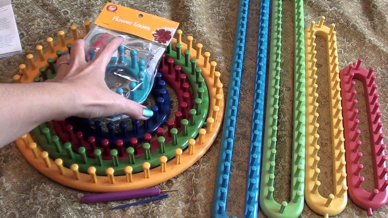 Knifty Knitter Looms And Boye Loom Tools Youtube