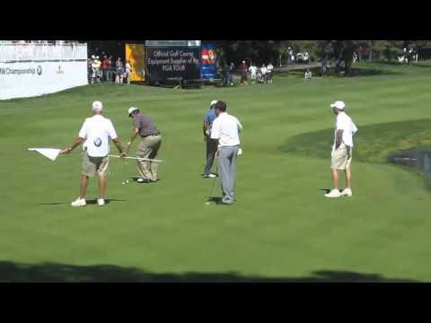 Tiger Woods Plays 18th Hole At Cog Hill BMW Championship
