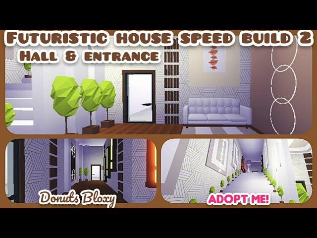 Adopt Me Futuristic House Decorating Hall Entrance Design Ideas Buildings Hacks Part 2 Youtube