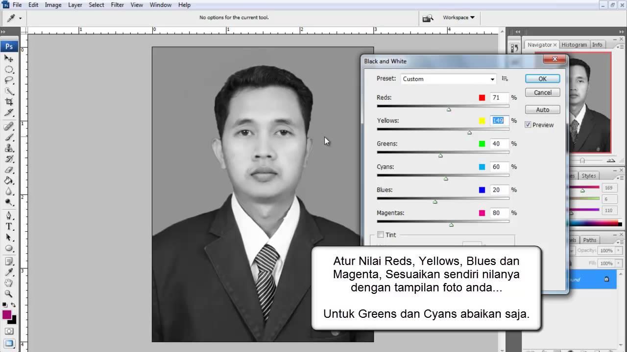 20+ Ide Cara Mengedit Foto 3x4 Background Hitam Putih ...