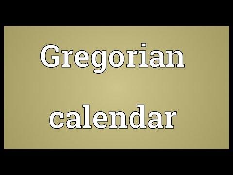 Gregorian calendar Meaning