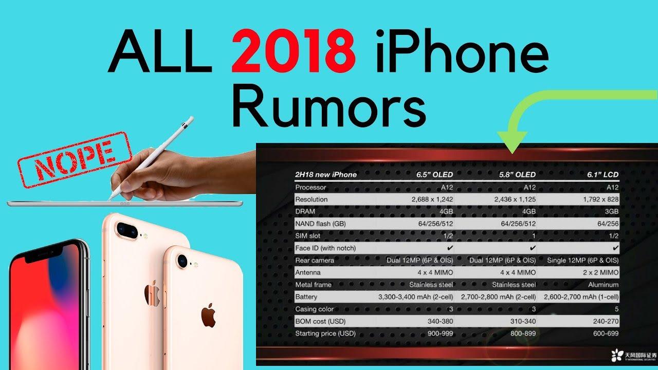 buy popular 963c8 52604 FINAL 2018 iPhone Rumors -- iPhone X Plus, iPhone X2, and iPhone 9 (6.1