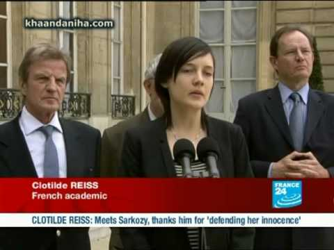 First appearance of Cotilde Reiss in Elysee palace