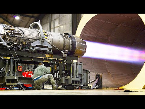 Testing US F-16 Afterburner Jet Engine to Its Extreme Limit