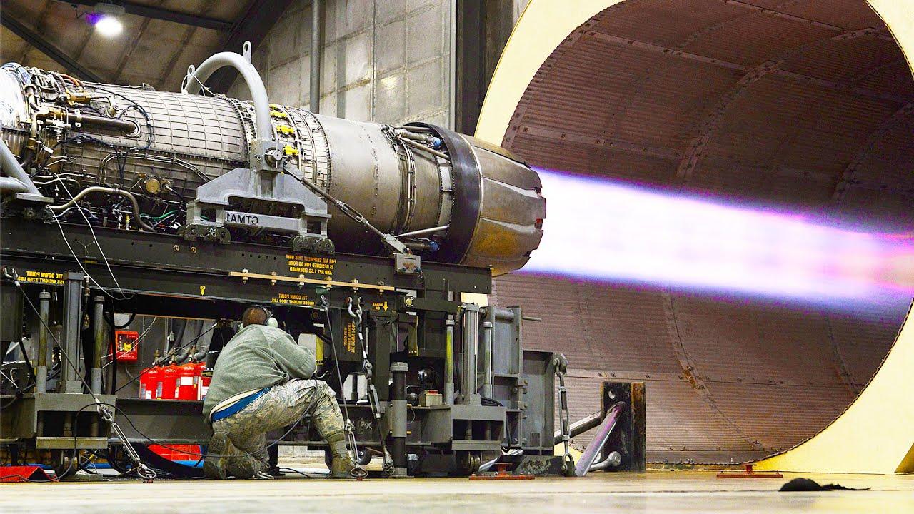 Testing US F-16 Afterburner Jet Engine to Its Extreme Limit