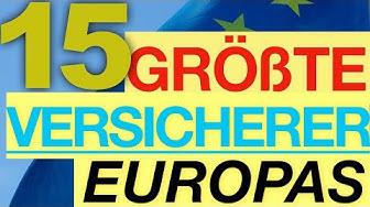 Größte Versicherer Europas – TOP 15