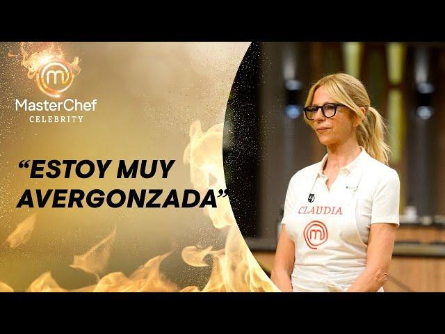 Claudia Fontan en Masterchef celebrity 2, polemica por juntar comida del piso