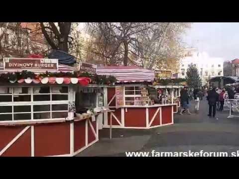 Vianocne trhy Bratislava Hviezdoslavovo namestie 2016
