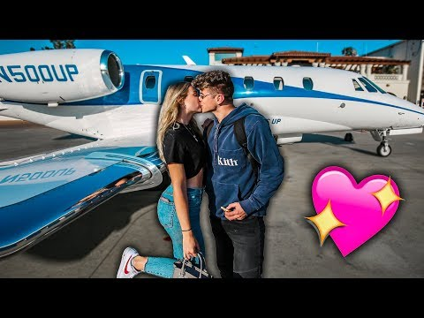 SURPRISING HER WITH A PRIVATE JET RIDE! *CUTE*