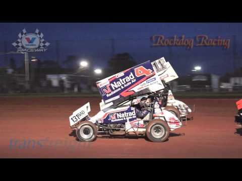 Australian Sprintcar Grand Prix -Top 8 Dash - Valvoline Raceway - Rockdog Racing Videos