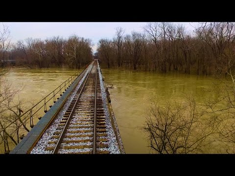 Mill Race Park Is Flooded | Columbus, Indiana