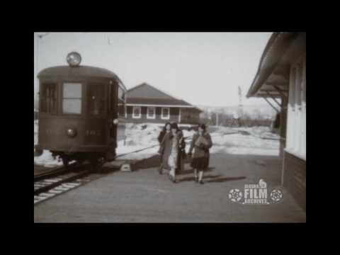College train station circa 1930s