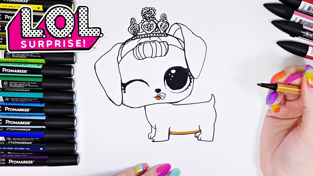 How to Draw LOL Surprise Pets
